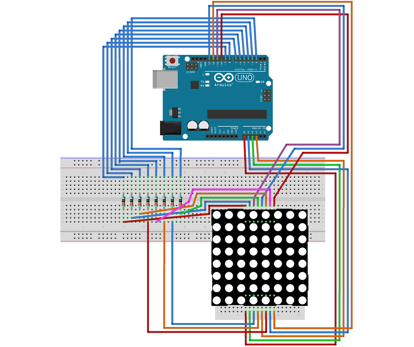 Using A LED Matrix With Arduino