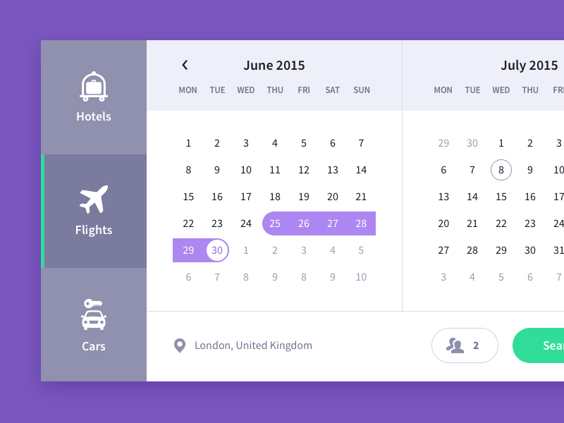 Calendar Ui Design Inspiration : Date picker design inspiration muzli