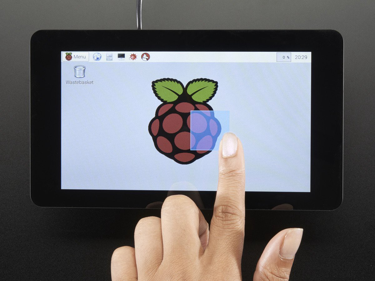 Building A Touchscreen Interface For Raspberry Pi Humanizing Tech Metal Detector Circuit Adafruits Foundation Display 7 Currently 80 Without Shipping