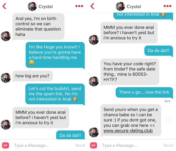 Tinder sex chat