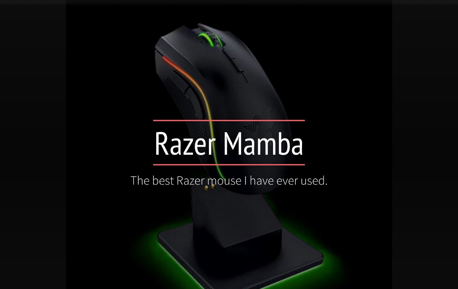 "8dd84670bb6 My search for a wireless gaming mouse ""Razer Mamba"""