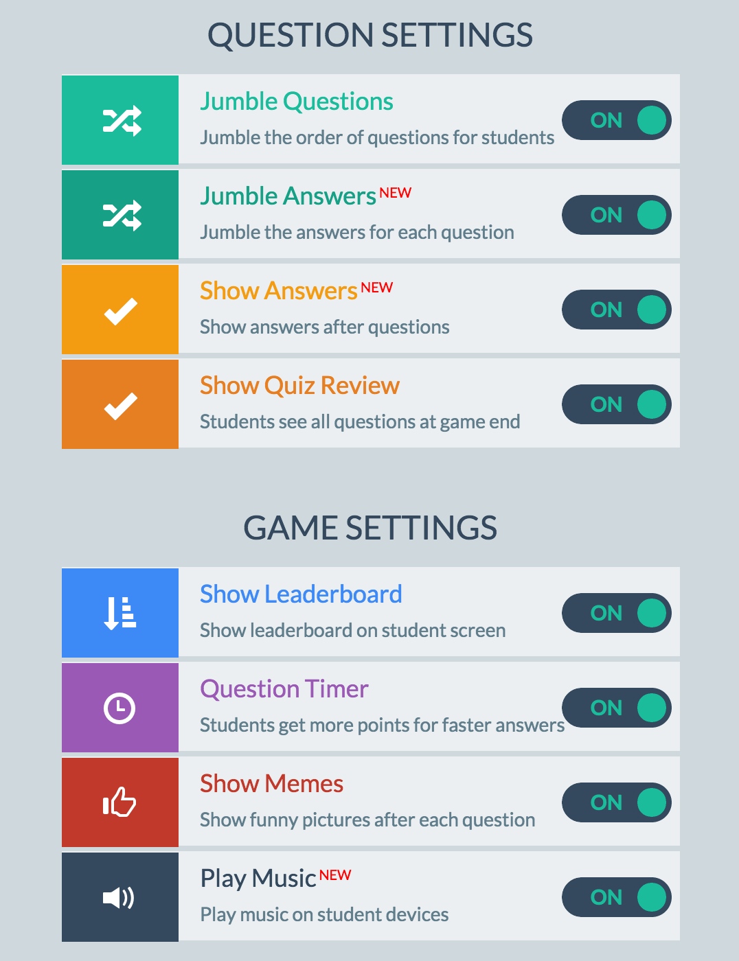 how to make your own quiz up game
