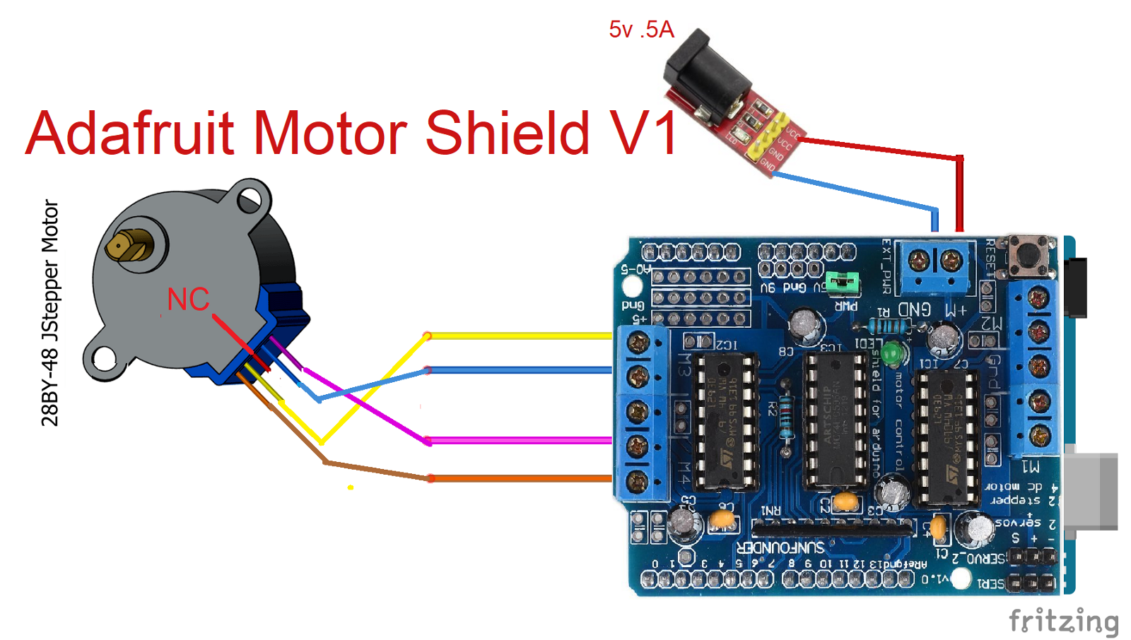 Up there I'm using: Adafruit Motor/Stepper/Servo Shield for Arduino kit — v1.2 & 28BYJ-48 Stepper Motor & Arduino Uno IDE 1.8.5. See comments above for the ...