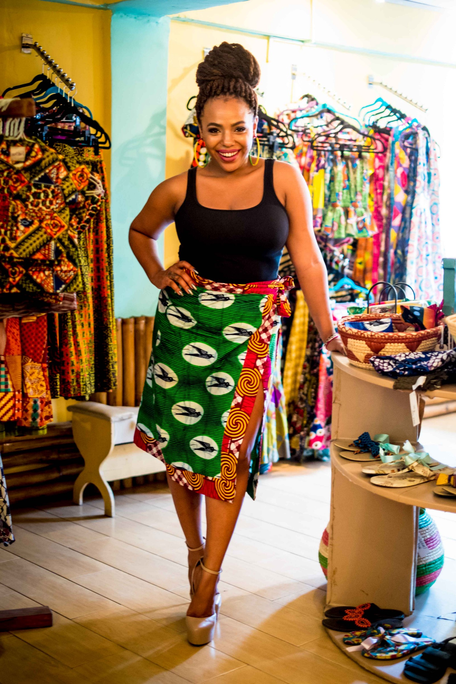 The Bombchel Factory and Mango Rags boutique in Monrovia, Liberia.