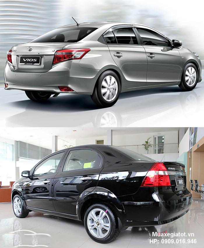 So Snh Toyota Vios V Chevrolet Aveo 2018 Mua Xe Gi Tt Medium