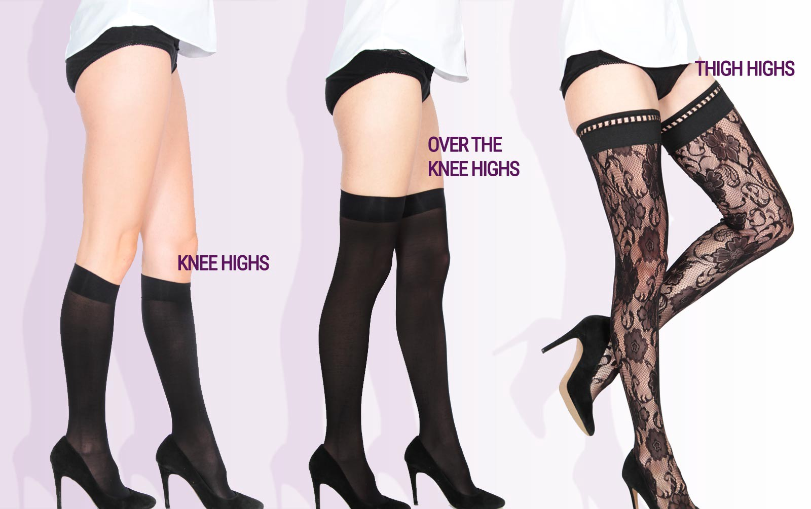 "2c56fb8df Most of the confusion on this topic stems from various lingerie brands  misusing the term ""thigh highs"". Adding to the misconception"