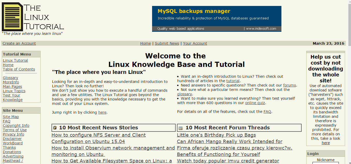 12 resources to learn linux administration eduonix learning a free of charge website that hails itself as being the only linux resource you need for learning linux administration the website offers an in depth and baditri Images