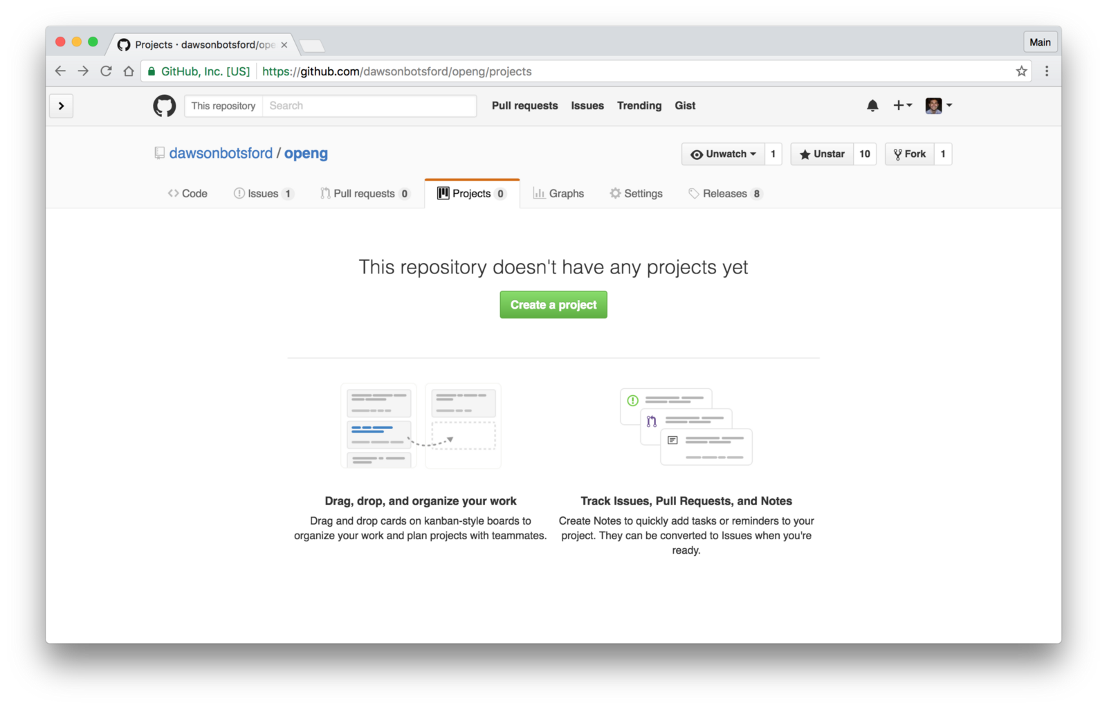 how to delete a github project
