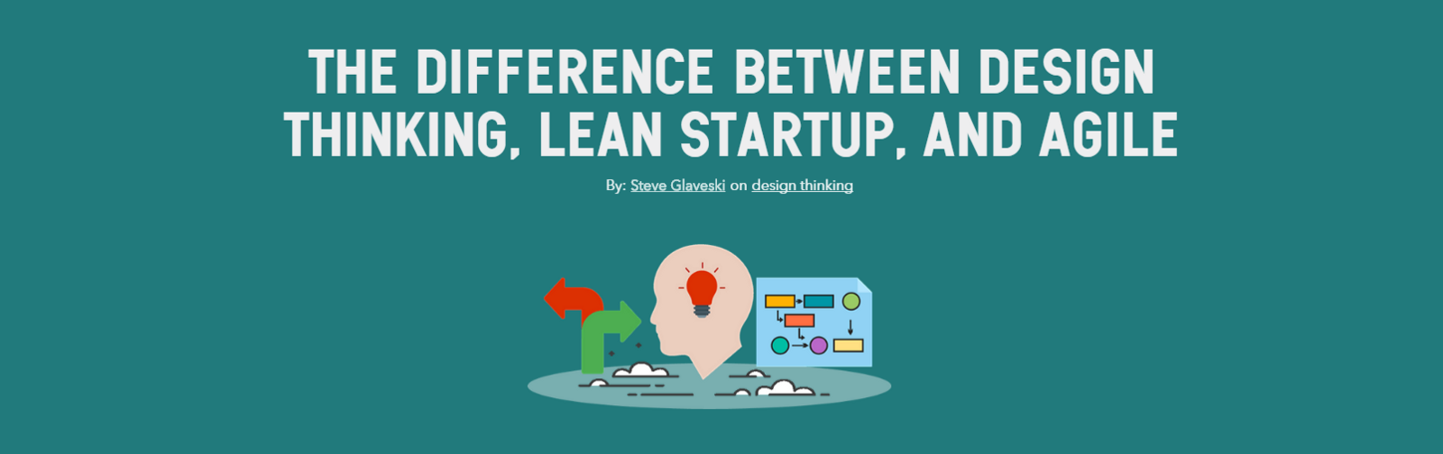 Design thinking Vs. Lean start-up Vs. Agile