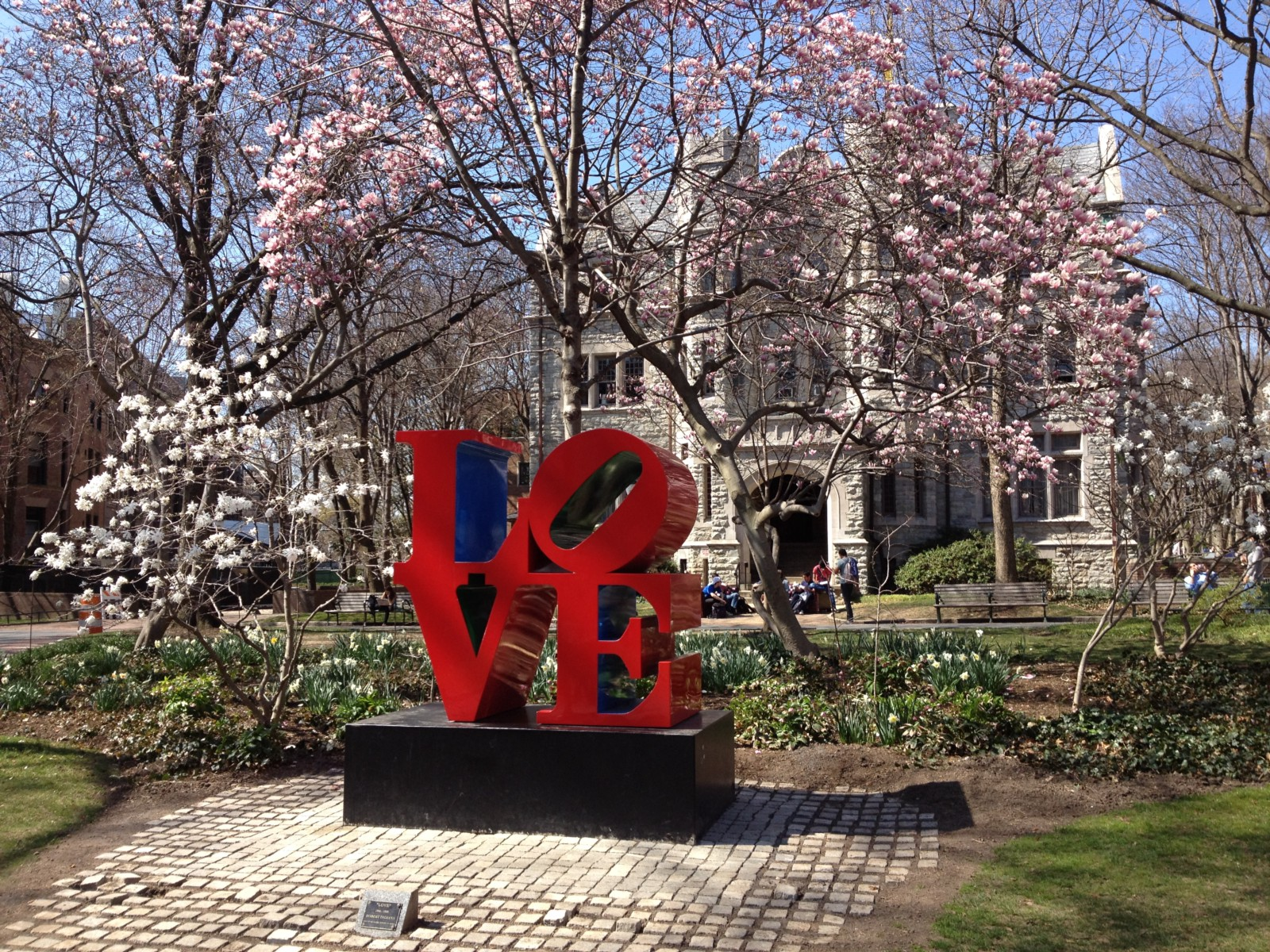 Love Statue in the Spring, UPenn
