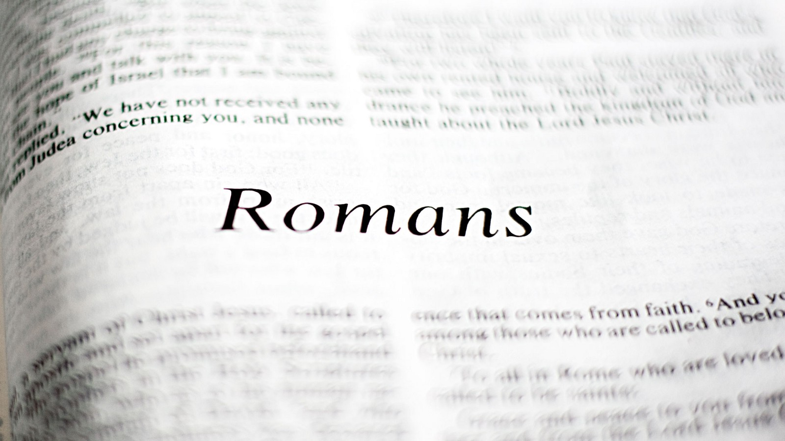 Paul and the Letter to the Romans, Part 1 – Church of God, AIC