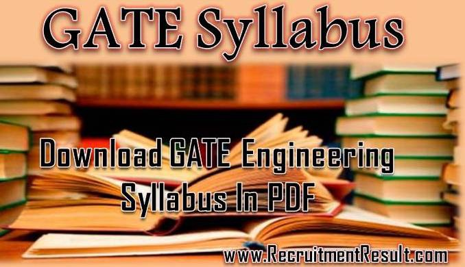 GATE Mechanical Syllabus 2019 with Weightage Download PDF