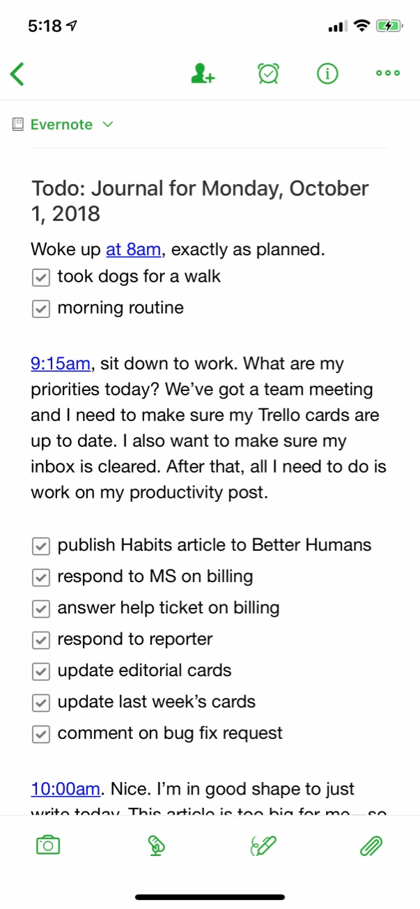 heres an example of mixing todo lists and journaling this is called interstitial journaling