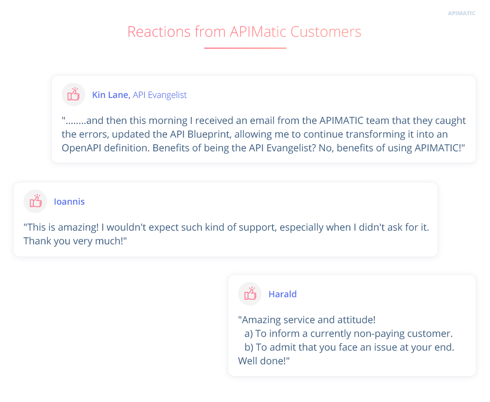 Taking pride in proactive customer support apimatic why should you care malvernweather Choice Image