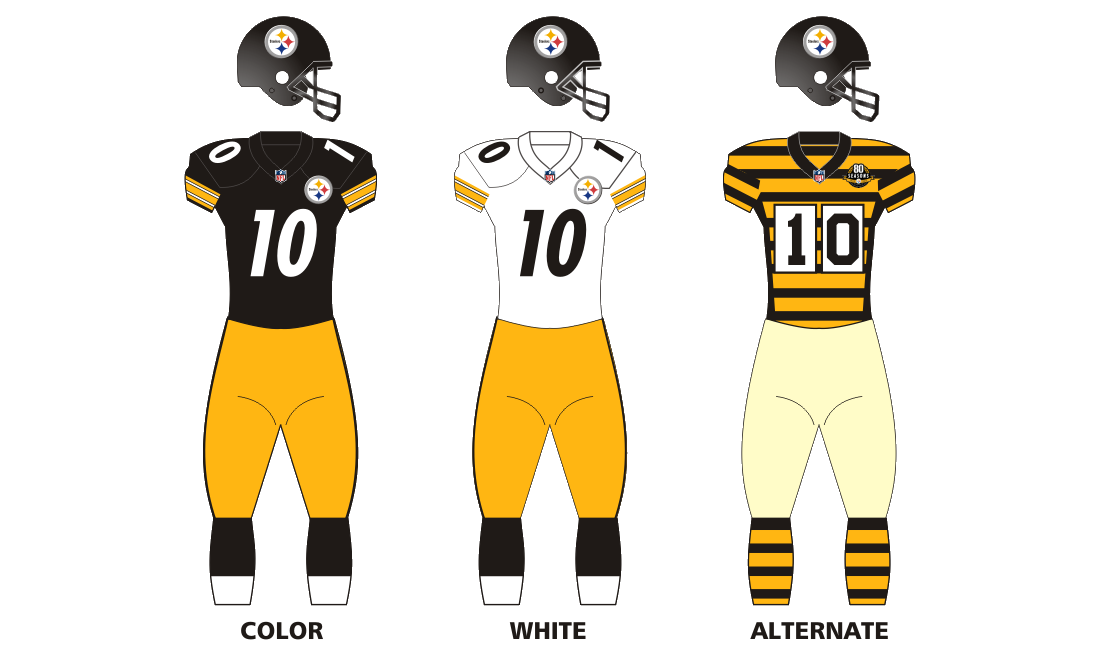 afc18c5ba Pittsburgh Steelers —The black and gold. The tri-diamond logo. The one  sided helmets. Pittsburgh s uniforms and image don t really need an  introduction
