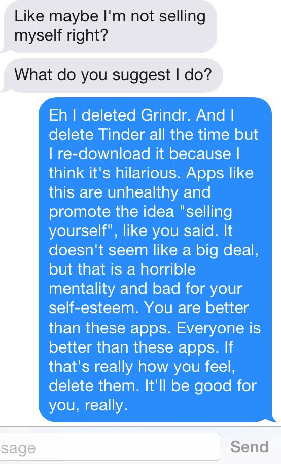 I Got One Less Problem Without Grindr