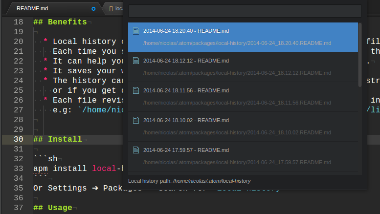 how to get to atom settings