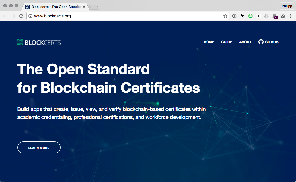 Blockcerts An Open Infrastructure For Academic Credentials On The