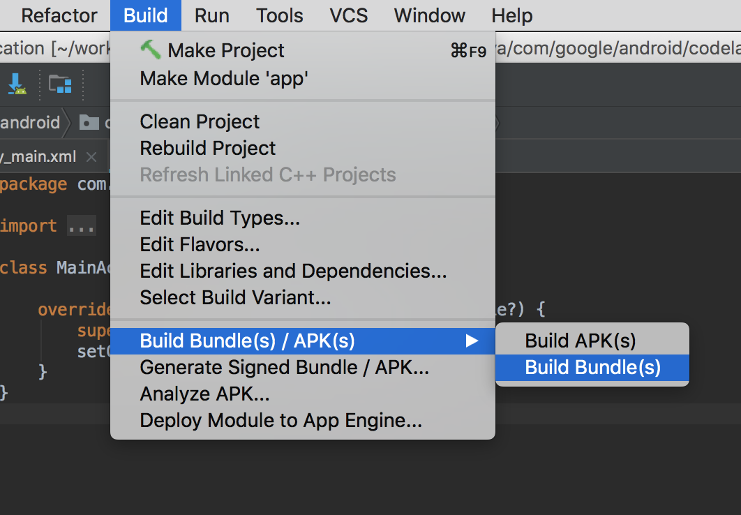 android studio not building apk