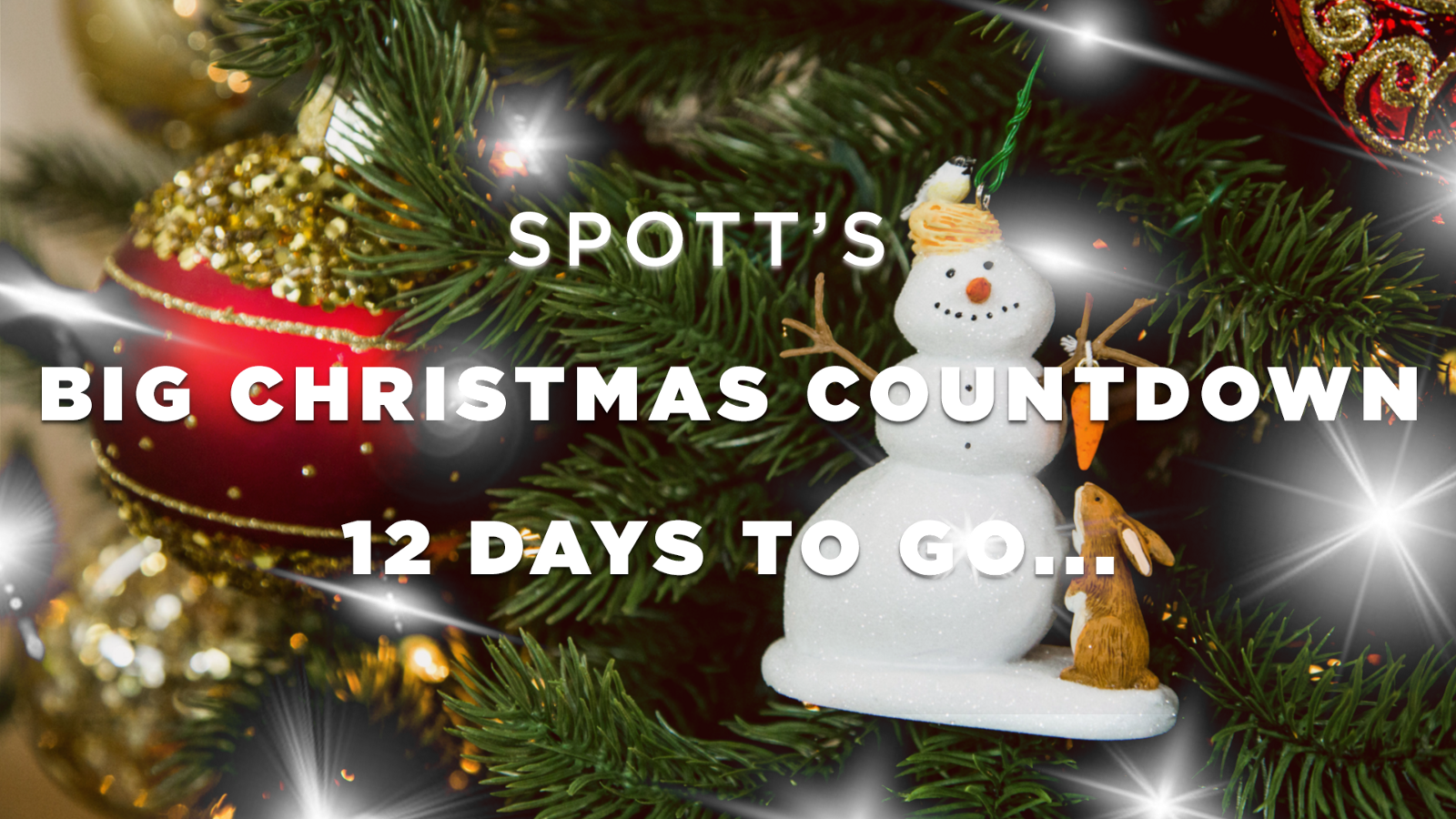 spotts big christmas countdown 12 days to go christmas decoration