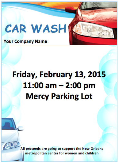 ... Car Wash Flyer Template,. Click Here To Download