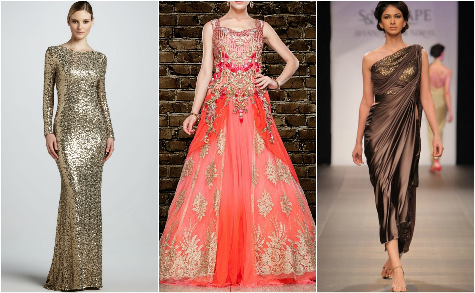 glamorous party gowns
