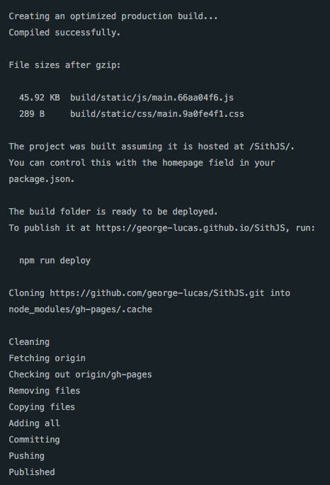 Npm Run Deploy Will First Build Your Project Via Then It Publish To A Gh Pages Branch On GitHub D