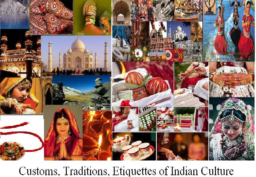 indian customs and traditions Culture of india manifested in its traditions, languages, handicrafts, values, arts and religions etc find detailed information about indian culture.
