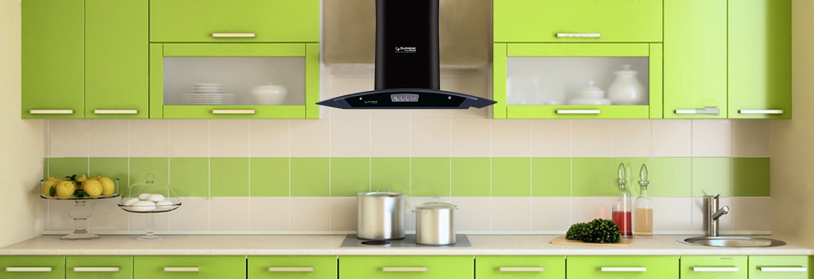 Go Trendy With Supreme Flames Electric Kitchen Chimneys