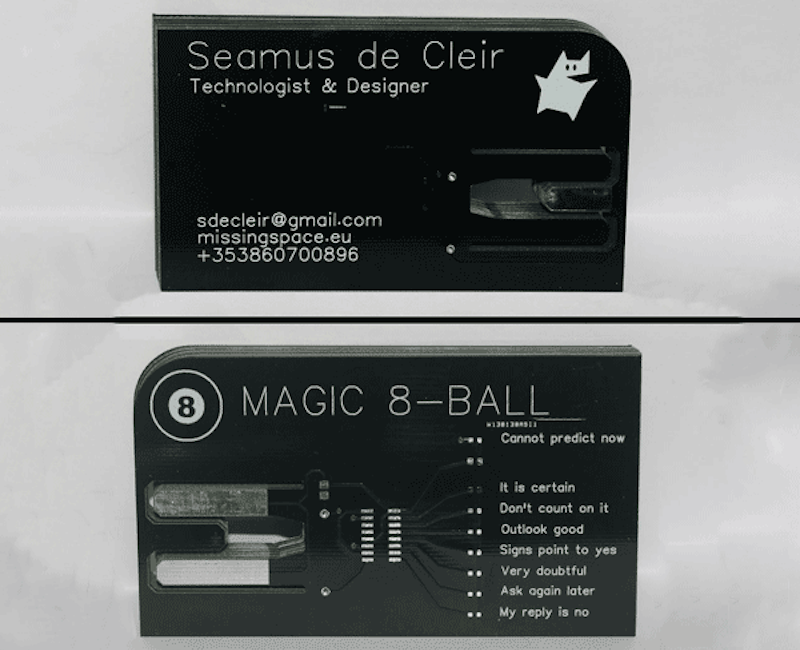 Magic 8-Ball PCB Business Card – Hackster\'s Blog