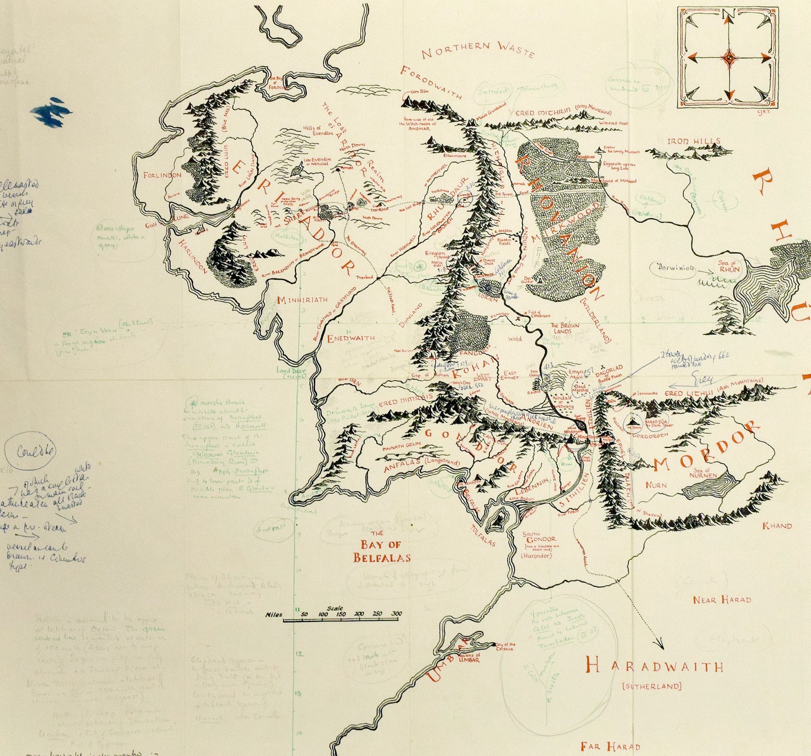 Making a map of scotland lord of the rings style callum ogden annotated map of middle earth by jrr tolkien publicscrutiny Images