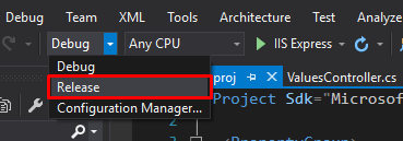 build an application with visual studio