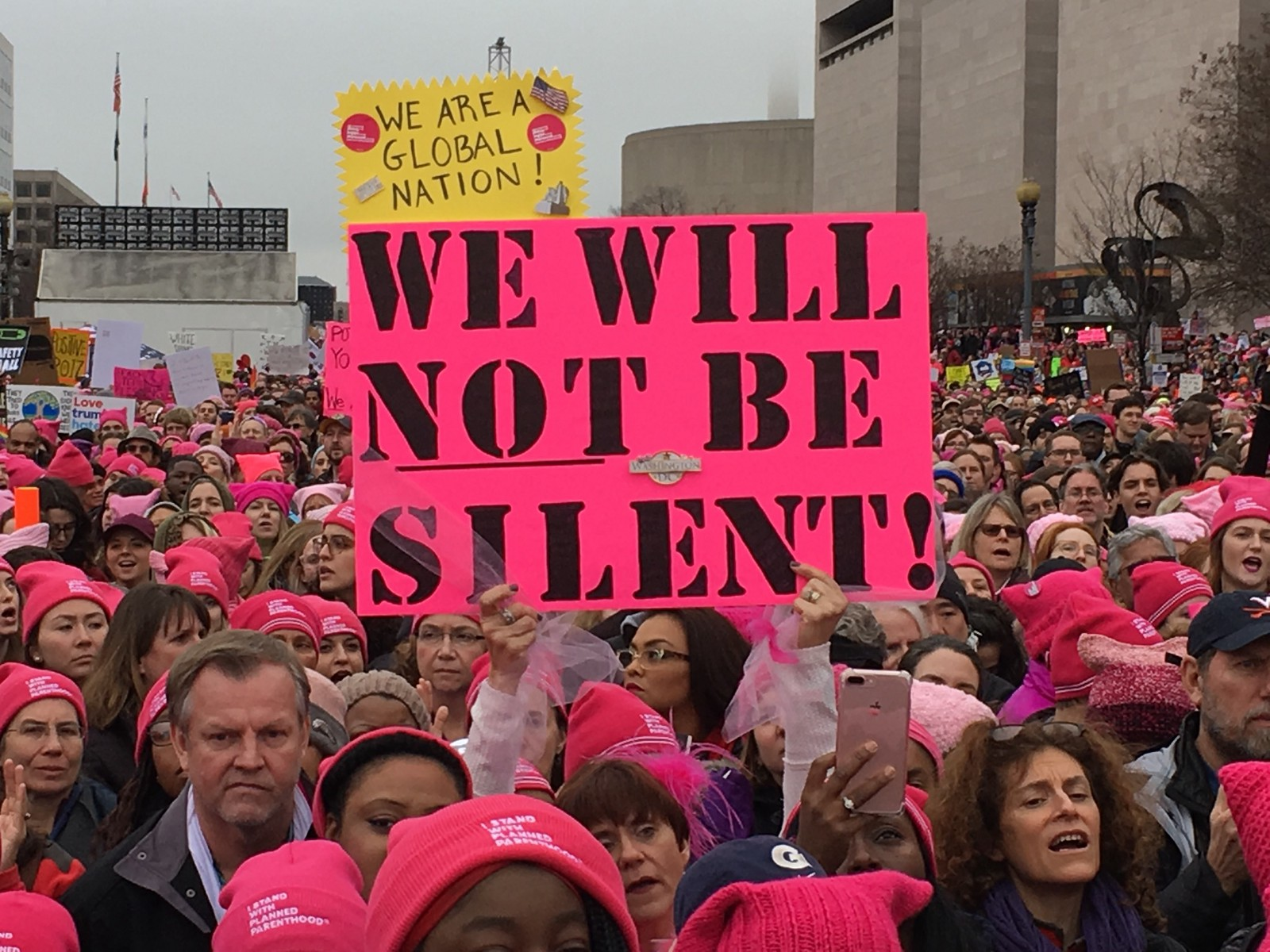 Image result for pink hat protest