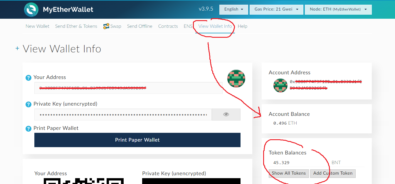 If Youu0027re Not Sure About Your BNT Balance, Go To U201cview Wallet Infou201d, And On  The Right Side, Below Your Address You Will Be Able To Find Your Balance: