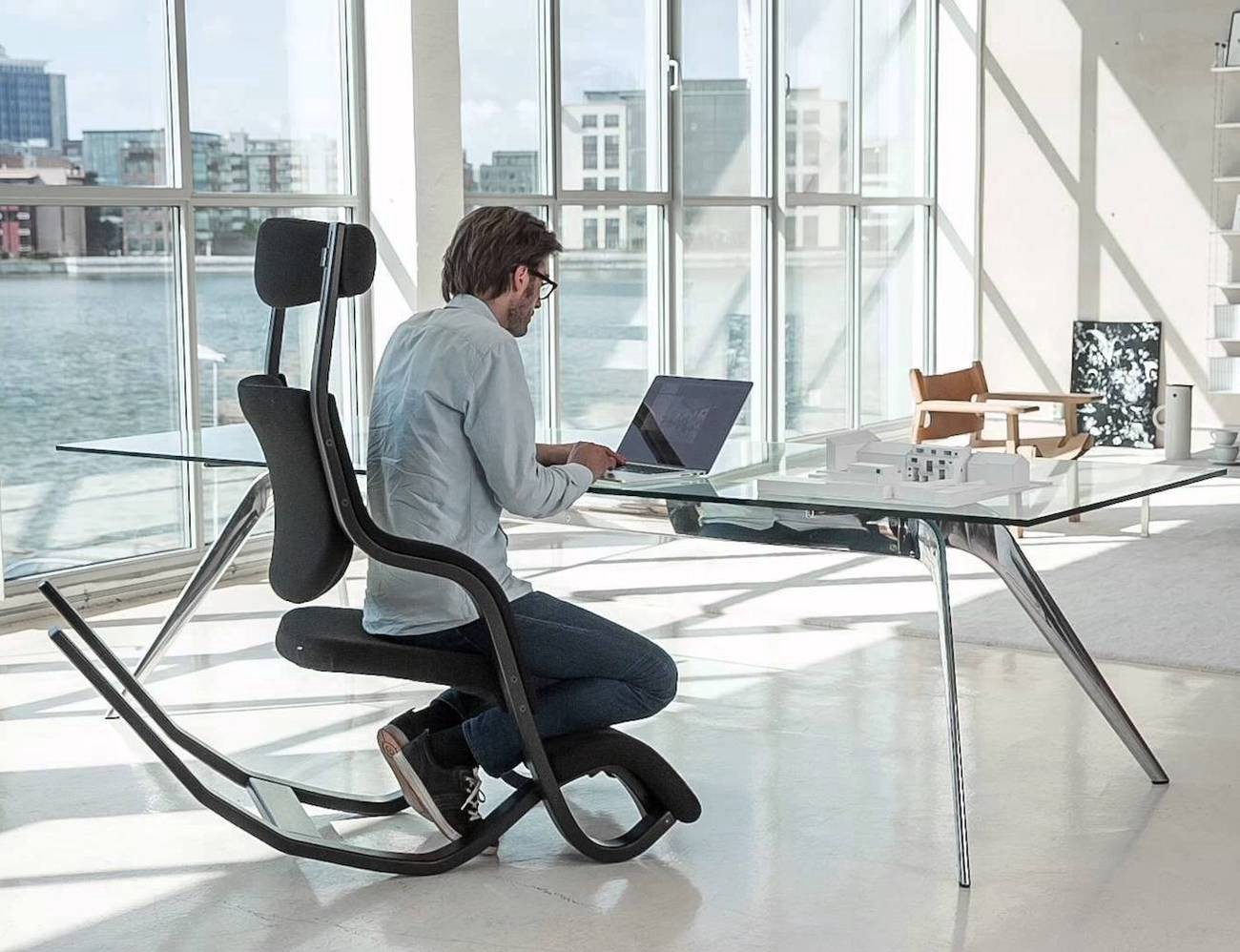 This totally unique design gives this modern chair a plethora of opportunities. You can work play and relax all in the same place. & 10 Comfy Work Chairs for a Productive Work Life u2013 Gadget Flow u2013 Medium