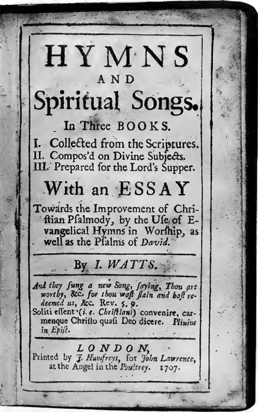 Image result for hymns of isaac watts