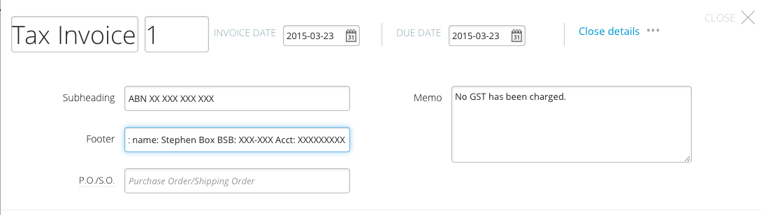 How to customise Wave Accounting for ATO compliant tax invoices