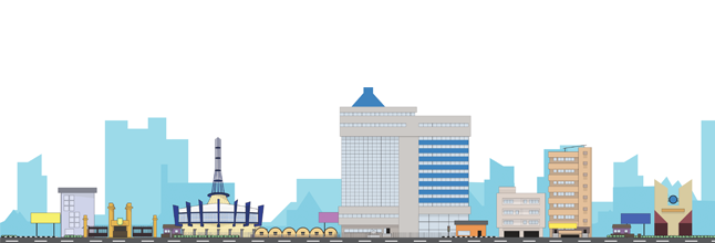 yaba skyline illustration