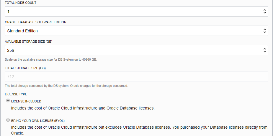 oracle database license cost