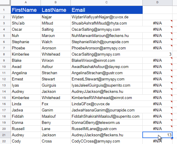Easy Formula to Quickly Find Duplicates in a Google Sheet