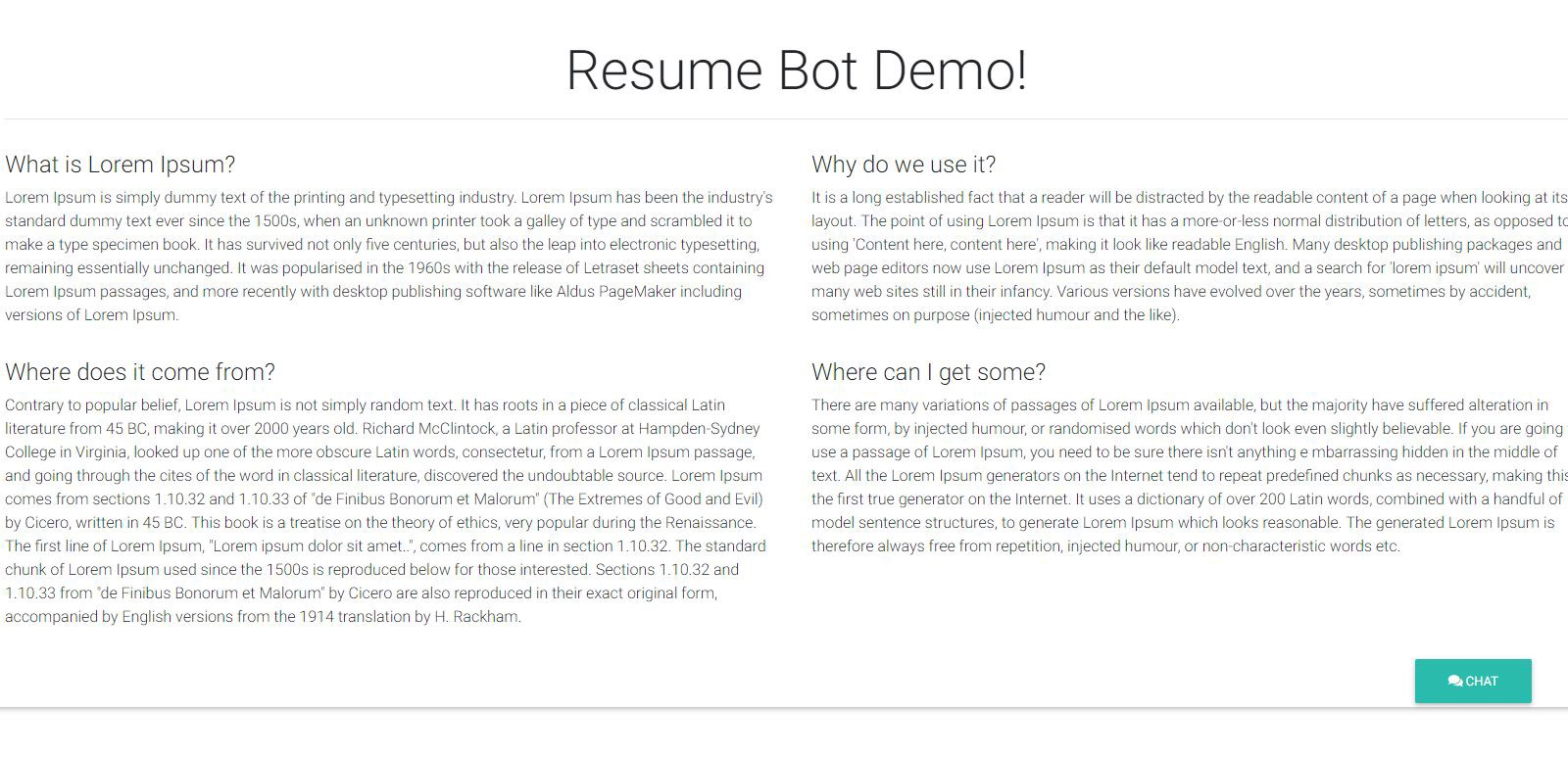 resumebot  u2014 develop serverless chatbot in minutes for your resume
