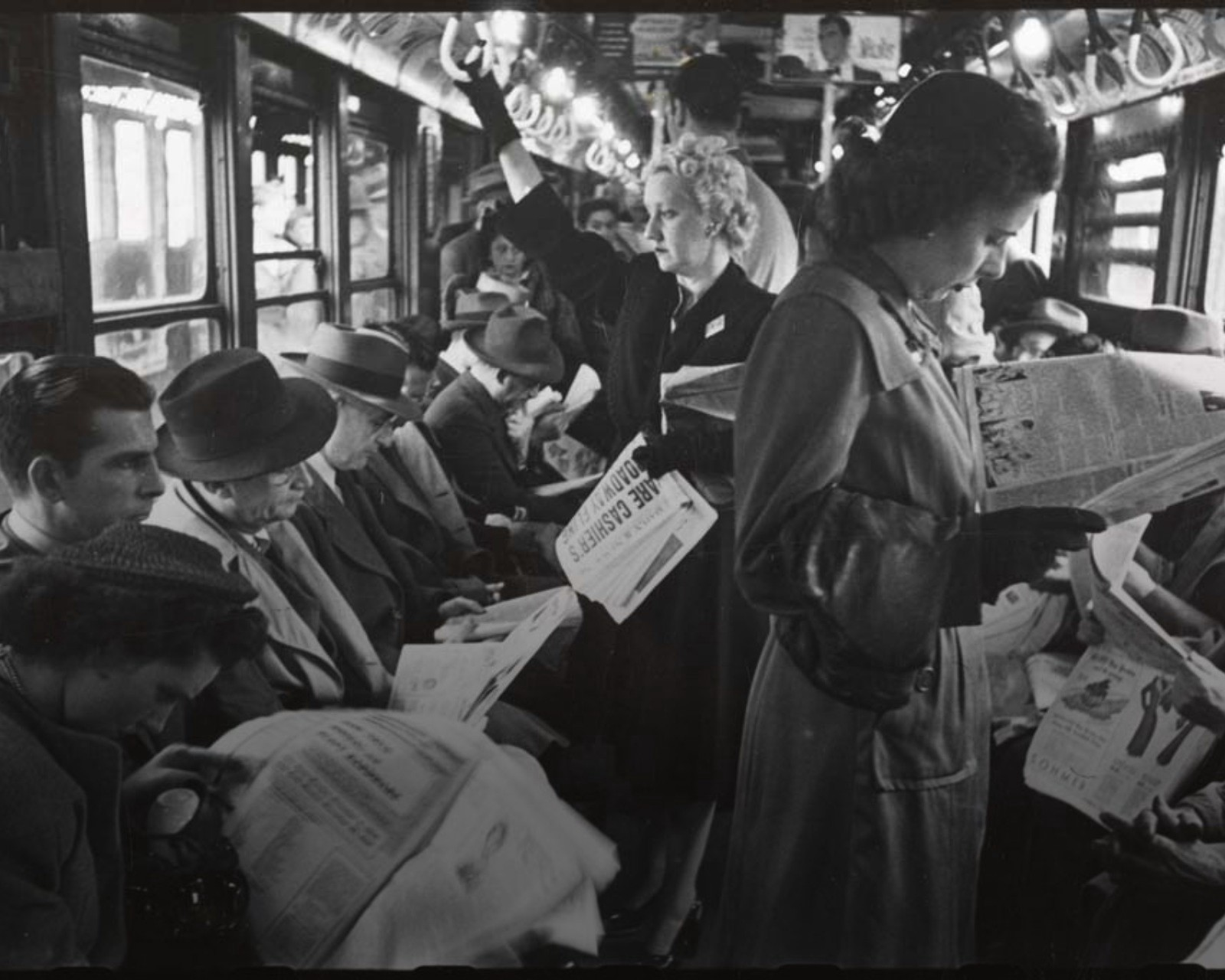 People Reading Newspaper