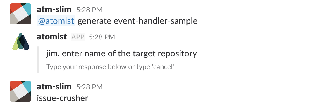 Custom Slack Notifications With Atomist Event Handlers