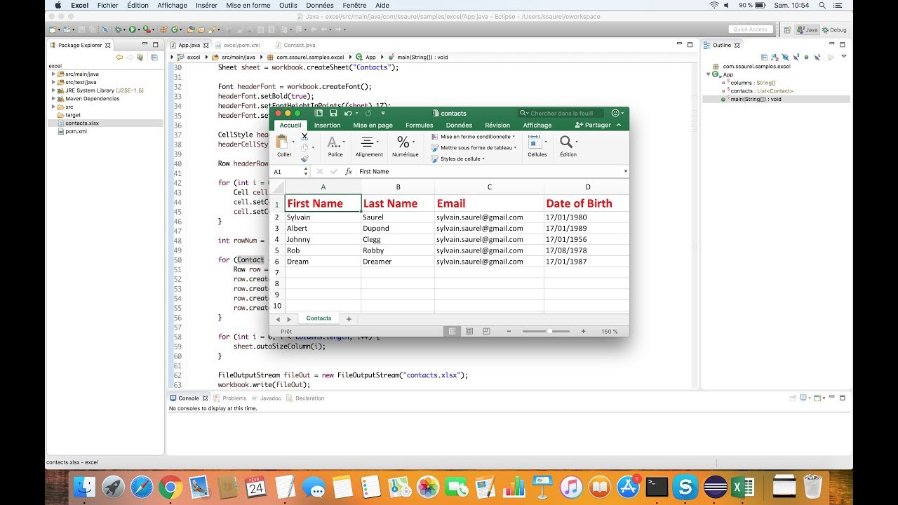 Generating microsoft excel xlsx files in java sylvain saurel thats all for that tutorial dont hesitate to visit the ssaurels blog to discover more tutorials on java and android development baditri Image collections