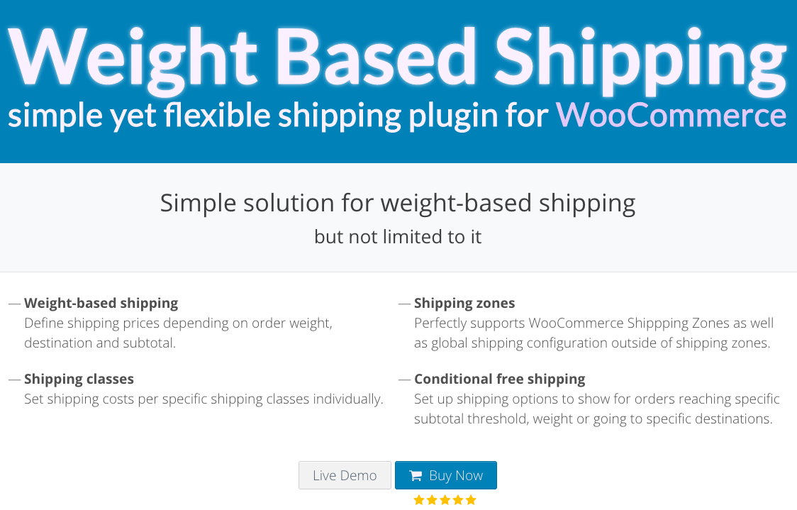 WooCommerce Weight Based Shipping