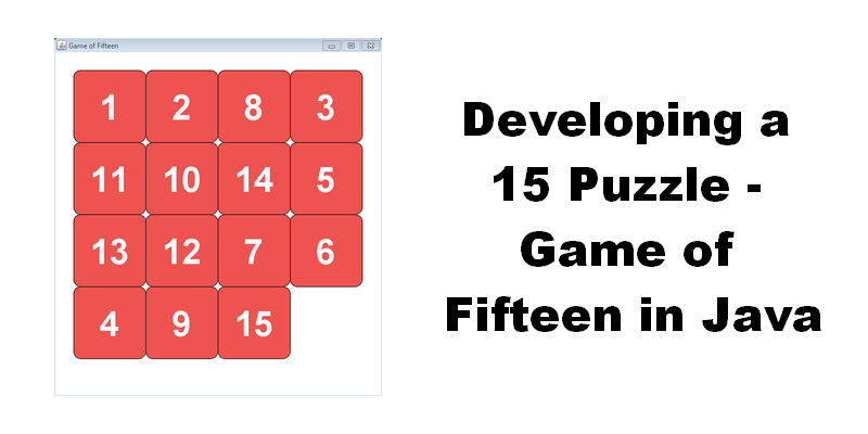 Developing a 15 Puzzle—Game of Fifteen in Java