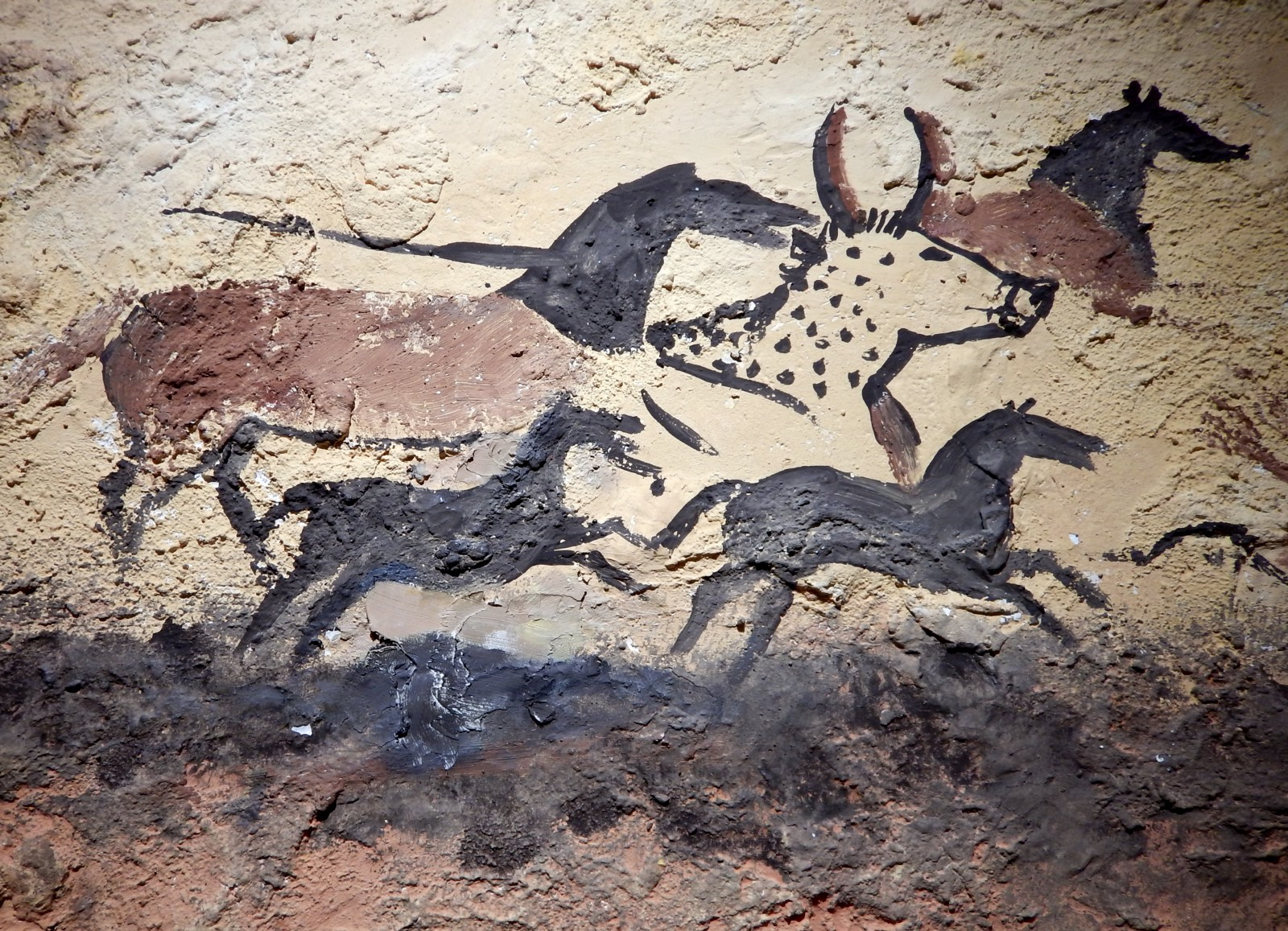 prehistoric artists painted images in the back of the caves