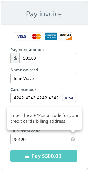 """And because we had to satisfy naming conventions for both US and Canadian customers, the input label reads """"ZIP/Postal code""""."""
