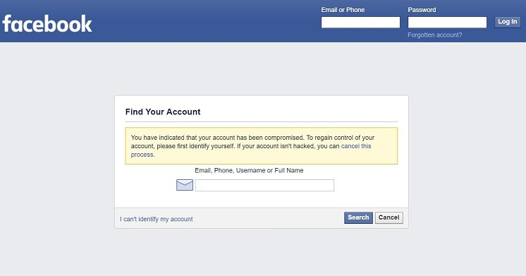 how to change fb password without email