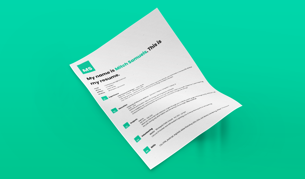Four Free Modern Resume Templates Themes For Your Linkedin Profile